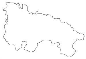 Mapa político mudo de La Rioja (Anaya)