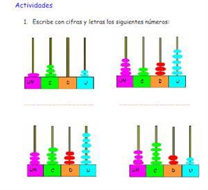 Practica cómo se escriben los números de 4 y 5 cifras