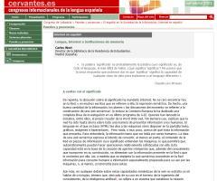 II Congreso Internacional de la Lengua Española. El español en la Sociedad de la Información. Carlos Wert.