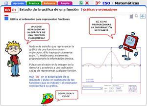 Gráficas y ordenadores. Matemáticas para 3º de Secundaria