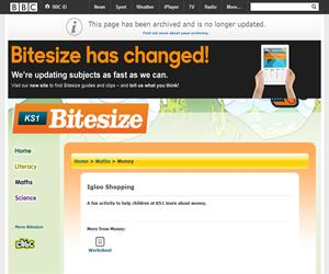 Money calculation. Juego online de Bitesize (BBC)