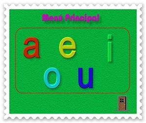 Las vocales (letras imprenta una)