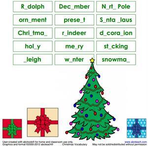 Actividades para imprimir sobre Navidad (abcteach.com)