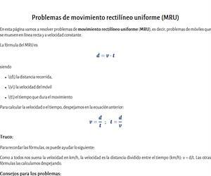 Problemas de MRU