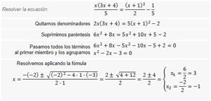 Ecuaciones de segundo grado - 4º ESO
