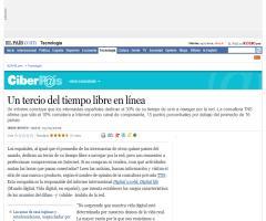 Un tercio del tiempo libre en línea · ELPAÍS.com