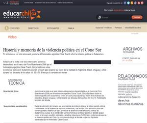 Historia y memoria de la violencia política en el Cono Sur (Educarchile)