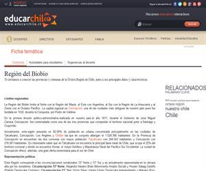8va Región División política administrativa (Educarchile)