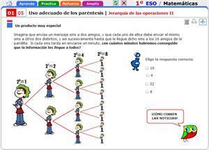 Jerarquía de las operaciones II. Matemáticas para 1º de Secundaria