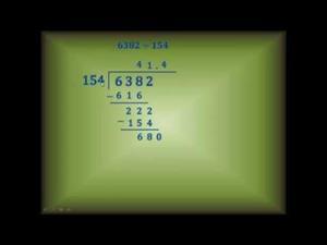 Aprendiendo a dividir entre dos y tres cifras
