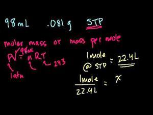 Ecuación general de los gases - Ejemplo 4 (Khan Academy Español)