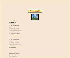 Primavera de Lope de Vega, lectura comprensiva interactiva