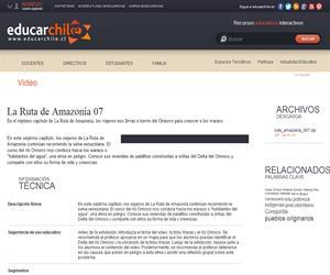 La Ruta de Amazonía 07 (Educarchile)