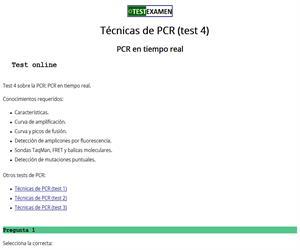 Test sobre la PCR a tiempo real