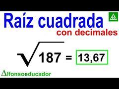 Raíz cuadrada CON decimales. Método efectivo.