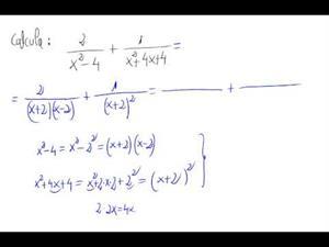 Operación entre fracciones algebraicas