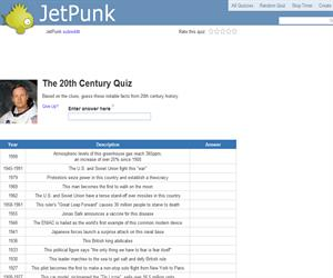 The 20th Century Quiz