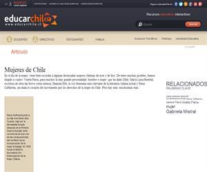 Mujeres de Chile (Educarchile)