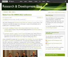 Notes from the WWW 2012 conference