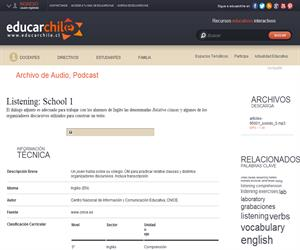 Listening: School 1 (Educarchile)