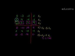 Sistema de ecuaciones por método de Gauss