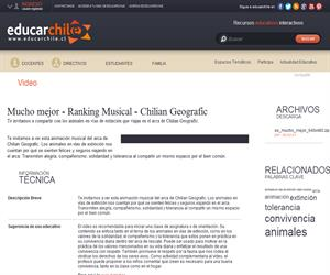 Mucho mejor - Ranking Musical (Educarchile)