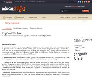 8va Región Geografía y clima (Educarchile)