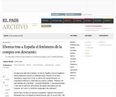 Ebonus trae a España el fenómeno de la compra con descuento · ELPAÍS.com