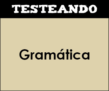 Gramática. 3º Primaria - Lengua (Testeando)