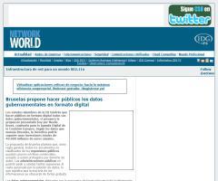 Bruselas propone hacer públicos los datos gubernamentales en formato digital (Network World)