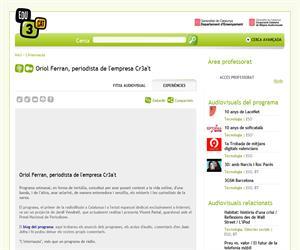 Oriol Ferran, periodista de l'empresa Cr3a't (Edu3.cat)