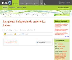 Las guerras independencia en América de Latina