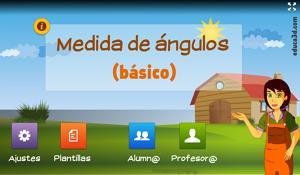 Medidas de ángulos (básico) - Unidad interactiva