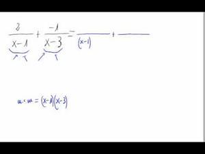 Suma de fracciones algebraicas