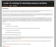 Curate: an ontology for describing museum narratives