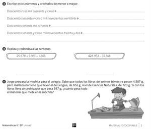 Actividades de repaso, refuerzo y ampliación de Matemáticas (6º de Primaria). Editorial SM