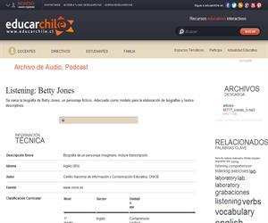 Listening: Betty Jones (Educarchile)
