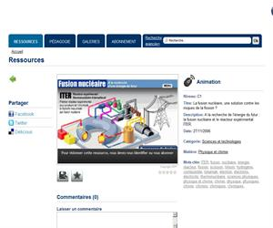 La Fusion nucléaire: una actividad interactiva de Física en francés. Educafrances.com