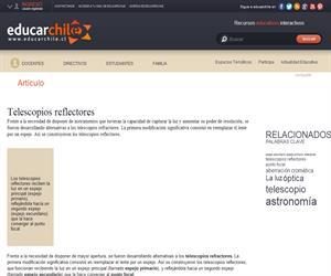 Telescopios reflectores (Educarchile)
