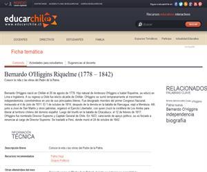 O'Higgins Riquelme, Bernardo (1778 - 1842) (Educarchile)