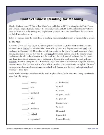 Context Clues: Reading for Meaning