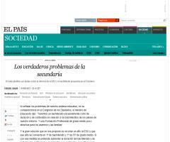 Los verdaderos problemas de la secundaria, por Miguel Soler | El País