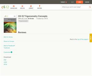 CK-12 Trigonometry Concept? At grade