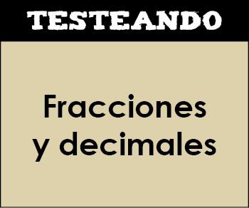 Fracciones y decimales. 1º ESO - Matemáticas (Testeando)