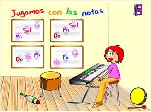 Jugando a recordar las notas (aprendomusica.com)