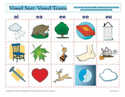 Vowel Sort: Vowel Teams