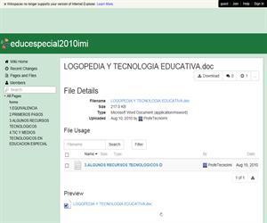 Logopedia y tecnología educativa