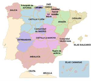 Comunidades Autónomas de España: provincias y capitales (El abuelo educa)