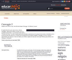 Caravaggio 5 (Educarchile)