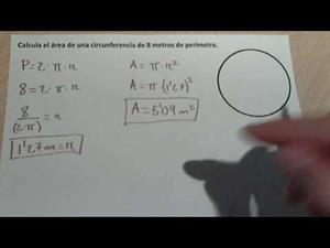 Calcular el área de una circunferencia a partir del perímetro.